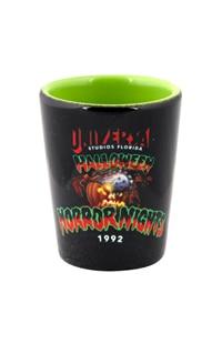 "Retro ""Halloween Horror Nights 1992"" Pumpkin Shot Glass"