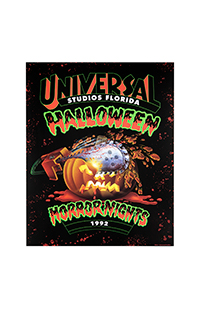 "Retro ""Halloween Horror Nights 1992"" Pumpkin Poster"