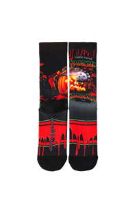 "Retro ""Halloween Horror Nights 1992"" Pumpkin Socks"