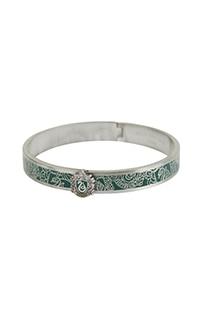 Slytherin™ Crest Bangle Bracelet