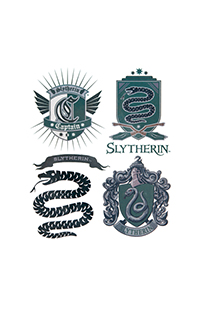 Slytherin™ Temporary Tattoos