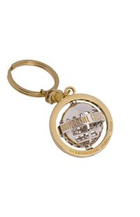 Universal Studios Gold Tone Spinning Keychain