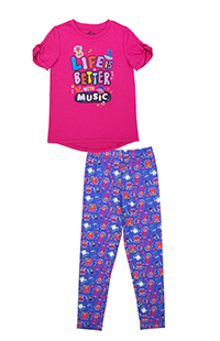 "Trolls ""Life is Better with Music"" Youth T-Shirt & Leggings"