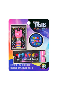 Trolls World Tour Peel & Stick Mini Patch Set