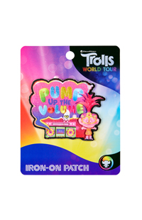 "Trolls World Tour ""Pump Up The Volume"" Iron-On Patch"