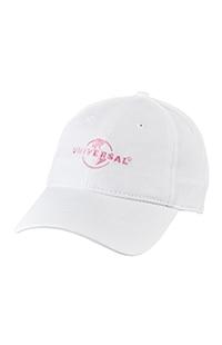 Universal Logo White & Pink Adult Cap