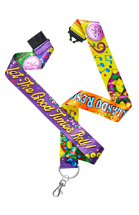 "Universal Orlando Mardi Gras ""Let The Good Times Roll"" Lanyard"