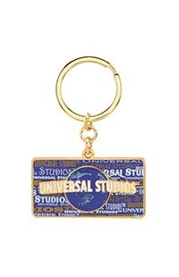 Universal Studios Globe Pin on Pin Keychain