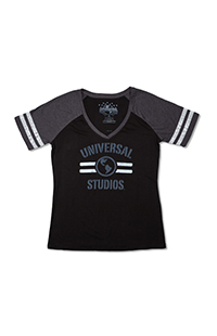 Universal Studios Ladies Striped Sleeves T-Shirt