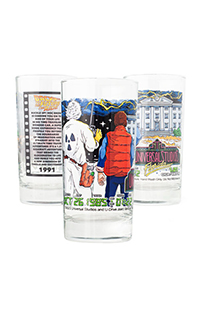 Universal Studios Retro Back To The Future Collectible Glass