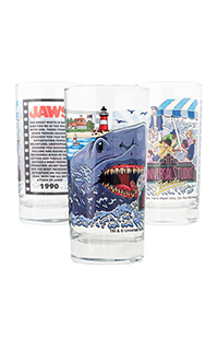 Universal Studios Retro Jaws Collectible Glass