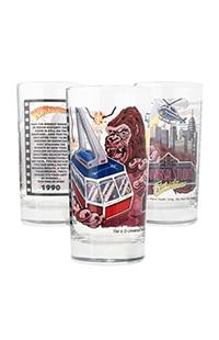 Universal Studios Retro Kongfrontation Collectible Glass