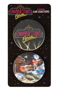 Universal Studios Retro Marquee 2-Pack Car Coasters