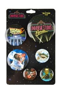 Universal Studios Retro Marquee Button Set