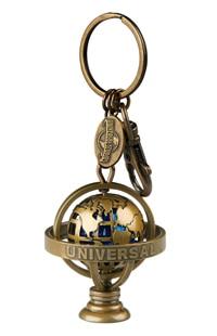 Universal Studios Spinning Globe Keychain