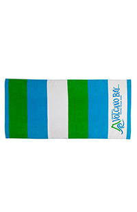 Volcano Bay Striped Beach Towel